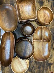 【まとめ売り】 木製 食器 セット アウトドア に最適 ウッド