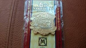 【ミラコスタ】TDS 東京ディズニーシーホテルミラコスタ 6周年 2007年 宿泊ピン 非売品 ミッキー 未開封 送料込み