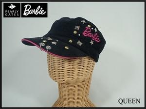 Barbie GOLF PEARLY GATES コーデュロイキャップ・S□バービー パーリーゲイツ/ゴルフ/スタッズ 鋲/21*1*3-16