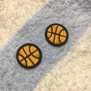 アイロンワッペン 刺繍ワッペン バスケット