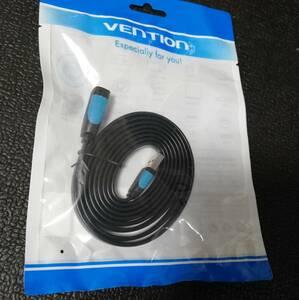 蝮ケーブル311:USB3.0延長ケーブル1.0m VENTION フラット