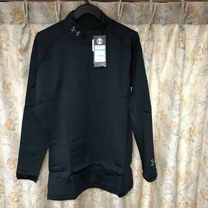 新品アンダーアーマー 長袖シャツ インナーシャツ 長袖インナー Lサイズ LG コールドギア ゴルフ アンダーシャツ モック ブラック