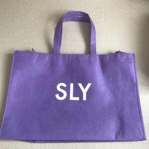sly 福袋の袋のみ ショッパー 紫 トートバッグ