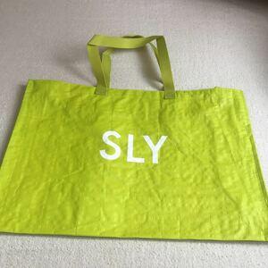 sly 福袋の袋のみ 黄緑 トートバッグ