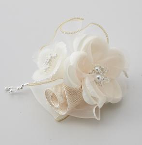 日本製 コサージュ 卒業式 入学式 入園式 結婚式 ブローチ お花 立体 フラワー パール ストーン ビーズ使い フォーマル 301-96