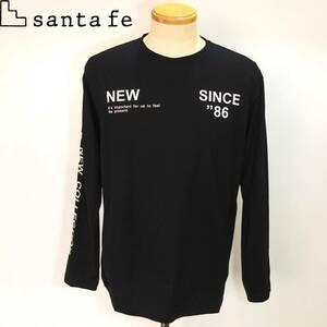 ★santafe★SALE 20-21新作 長袖Tシャツ【黒L】秋冬モデル 86103 サンタフェ
