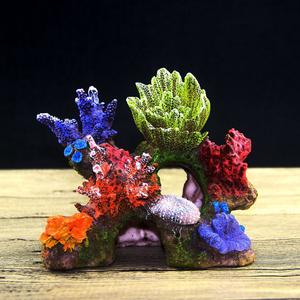 【送料無料】水槽 サンゴ礁 装飾 オブジェ 隠れ家 熱帯魚 観賞魚 オーナメント アクアリウム カラフル アク