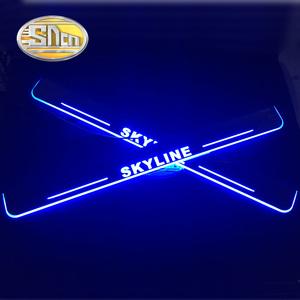 【送料無料】代替品 日産 スカイライン R32 R33 R34 R35 LEDスカッフプレート フロント Led moving door scuf