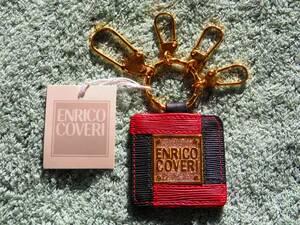 ENRICO COVERI Key Ring イタリア LEATHER 革 ☆ エンリコ・コベリ キーホルダー Italy 本革 キーリング 皮 鍵 エンリココベリ レザー ♪