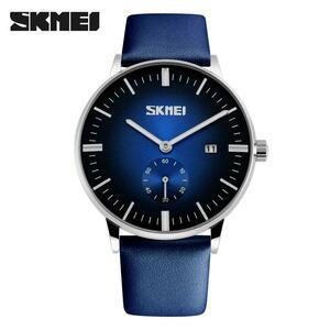 Skmei熱いブランドメンズファッションカジュアルスポーツ腕時計男性防水レザークォーツ腕時計男軍事時計レロジオmasculino