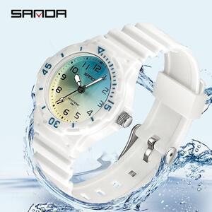 三田新高級ファッションスポーツメンズ腕時計防水デジタルクォーツクラシック最高品質の腕時計レロジオfeminino 6011