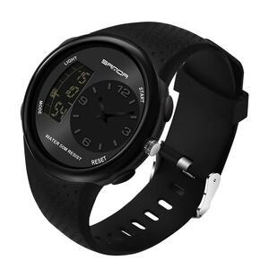 三田黒スポーツメンズ腕時計トップブランドの高級軍デジタルクォーツ時計防水男性時計レロジオ masculino 763