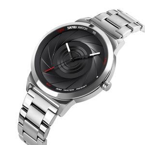 ファッション腕時計メンズブランド SKMEI クォーツは高級ステンレス鋼メンズ腕時計防水時計レロジオ Masculino Zegarek Meski