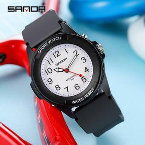 三田ファッションスポーツメンズ腕時計新高級防水デジタルクォーツクラシック最高品質の腕時計レロジオfeminino 6018