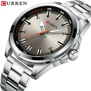 カレンステンレス鋼メンズ腕時計シンプルなクォーツ腕時計ミリタリー軍時計男性レロジオのmasculino
