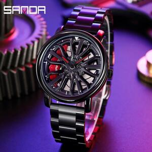 三田トップブランドメンズ腕時計高級ファッションカジュアルホイールシリーズダイヤル腕時計ミリタリークォーツ腕時計レロジオmasculino P