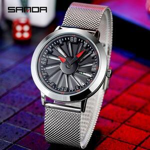 三田高級メンズファッションカジュアルホイールシリーズ腕時計防水腕時計ミリタリークォーツ腕時計レロジオmasculino P1045