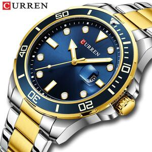 CURREN腕時計メンズクォーツステンレス鋼バンドwritwatches男性ビジネスデザインシンプルな時計レロジオmasculino