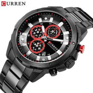 リロイhombresカレン腕時計ファッションスポーツクォーツメンズウォッチトップブランドの高級多機能防水時計レロジオmasculino