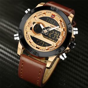 腕時計男性 NAVIFORCE 真新しい男スポーツ腕時計メンズクォーツ時計男性カジュアル軍事防水腕時計レロジオ Masculino