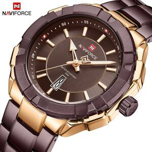Naviforce ファッション男性高級ブランドのスポーツクォーツ腕時計男性ビッグダイヤル時計防水時計レロジオ masculino