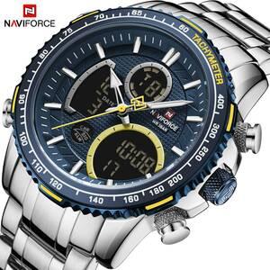 Naviforce 男性腕時計トップの高級ブランドビッグダイヤルスポーツ腕時計メンズクロノグラフクォーツ腕時計日付男性時計レロジオ masculin