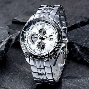 ファッションカジュアルブランドカレンスポーツクォーツメンズ腕時計ビッグダイヤル防水時計レロジオmasculino男性時計