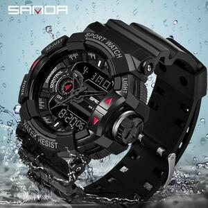 三田 599 ミリタリーメンズ腕時計トップブランドの高級防水スポーツ腕時計ファッションクォーツ時計男性時計レロジオ masculino
