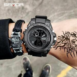 三田739スポーツメンズ腕時計トップブランドの高級ミリタリークォーツ腕時計メンズ防水sショック男性時計レロジオmasculino 2021