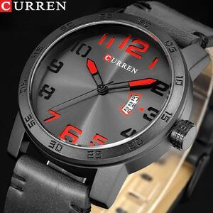 新しい高級ブランドカレン男性スポーツ腕時計メンズクォーツ時計男陸軍軍事革腕時計レロジオmasculino