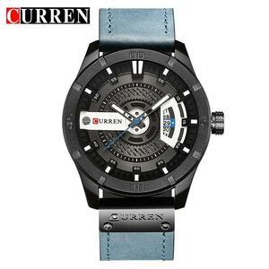 カレン高級ブランドアナログスポーツ腕時計ディスプレイ日付メンズクォーツ時計ビジネス男性時計レロジオmasculino montreオム