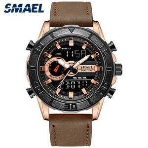 2019レロジオmasculino軍事男性スポーツ腕時計ファッションクォーツ時計30メートル防水ストップウォッチSL-1411革lde腕時計