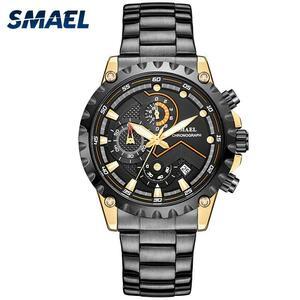 2019男性合金腕時計ステンレス鋼smael腕時計メンズ高級腕時計SL-9105防水レロジオmasculino腕時計