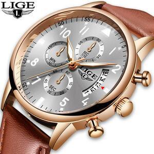 2020 ligeメンズ腕時計トップブランドの高級防水24時間日付クォーツ時計男性腕時計レロジオmasculino