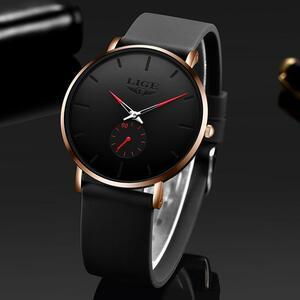 Lige 2020新ファッションスポーツメンズ腕時計トップブランドの高級防水シンプルな超薄型腕時計メンズクォーツ時計レロジオmasculino