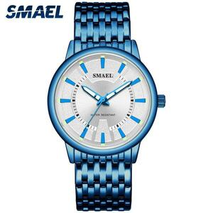 Smaelビジネスメンズ腕時計トップブランドの高級ダイヤルミリタリークォーツスポーツウォッチSL-9620時計防水時計男性