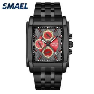 Smael腕時計メンズデジタルスポーツ腕時計防水ブランドの高級時計男性ファッションカジュアルデュアルTime9612クォーツダイヤル