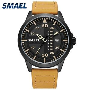 クォーツブレスレット革smael男性カジュアルアナログデジタルメンズ腕時計レロジオ1315軍事スポーツは防水