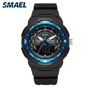スポーツ腕時計smaelスポーツウォッチ防水50メートルレロジオmasculinoストップウォッチアラーム時計1362ミリタリー腕時計クォーツリロイ
