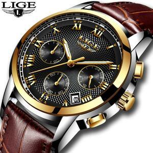 メンズ腕時計ファッションブランドlige多機能クロノグラフ時計ミリタリースポーツ時計男性男性時計レロジオmasculino