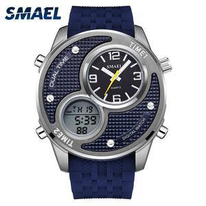 メンズ腕時計防水smael合金腕時計デジタル時計男性レロジオmasculino 1199クォーツ腕時計ステンレス鋼