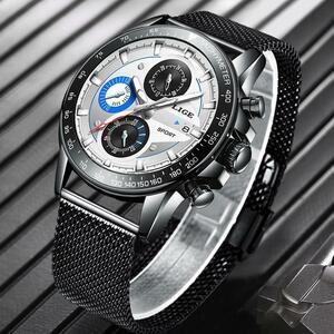 リロイhombre 2020 ligeトップブランドの高級メンズ腕時計防水超薄型日付腕時計男性クロノグラフカジュアルクォーツ時計