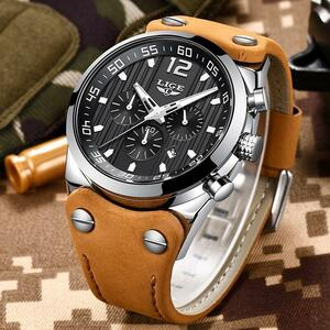 レロジオmasculino 2020 ligeファッションスポーツメンズ腕時計トップブランドの高級防水レザーストラップクォーツ腕時計男性時計
