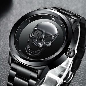 レロジオmasculino 2020新ligeメンズ腕時計トップブランドカジュアル3Dスカルフル鋼防水軍事スポーツ男性クォーツ腕時計