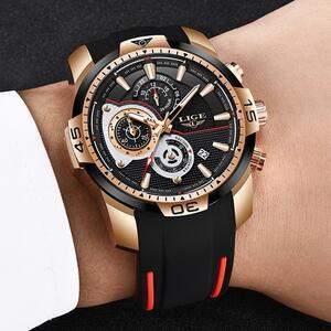 レロジオmasculino lige 2020新ファッションメンズ腕時計シリコンストラップトップブランドラグジュアリースポーツクロノグラフ軍事防水時