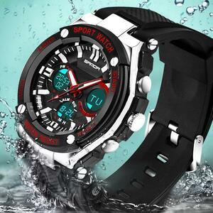 三田ファッション軍事腕時計男性防水メンズスポーツ腕時計s衝撃led電子腕時計レロジオmasculino 733