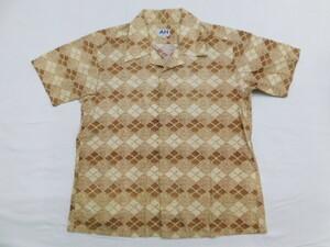 ★D621正規 アバハウス ABAHOUSE 半袖シャツ シャツ AH メンズ F ブラウン /再