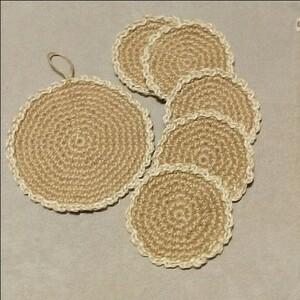鍋敷き・コースター セット 手編み