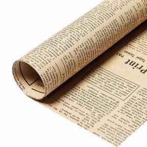 英字新聞紙柄 包装紙 ラッピング用品 ラッピングペーパー 40枚 紙 ギフトラッピング 包装資材 梱包材 贈り物 プレゼント誕生日 黒文字
