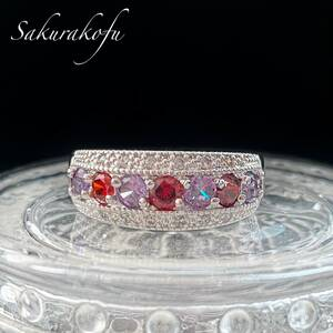 Free Shipping ☆ Instant delivery [No. 23] Ladies ring Popular Design Amethyst Garnet Pubeling D085A